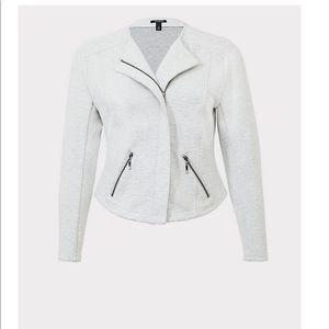 Light gray moto jacket